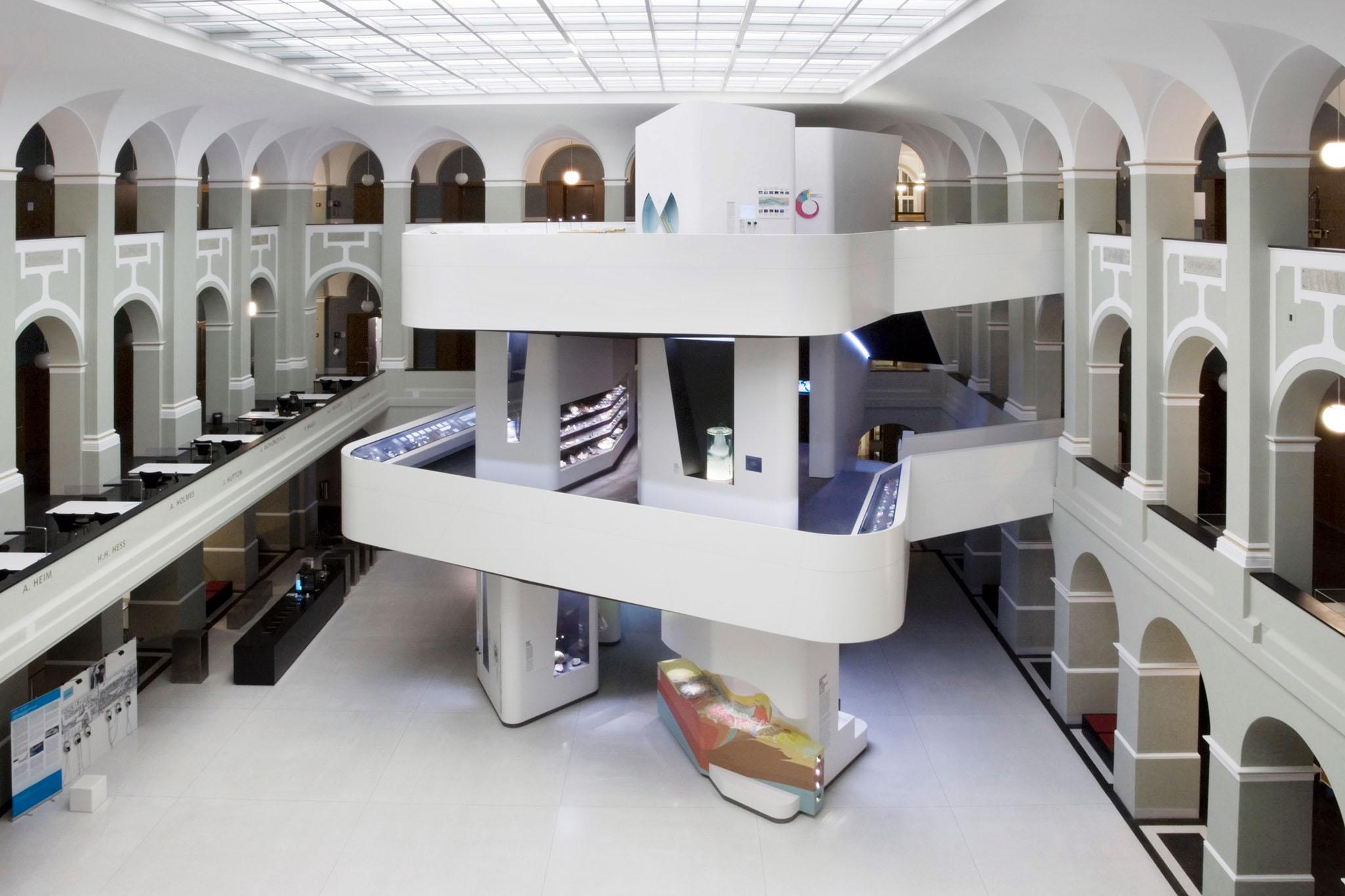 View Of The FocusTerra Museum In Atrium Building NO